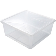 Ezy Storage 8.6L Clear Karton Storage Container With Snap On Lid