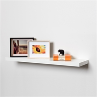 Flexi Storage 900 x 240 x 38mm White Gloss Floating Shelf