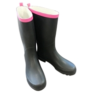 Troopers Womens Rubber Gumboots Size 9 Black