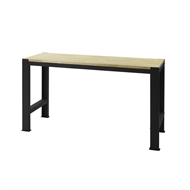 Pinnacle 900 x 1350 x 540mm Matte Black With Timber Top Workbench