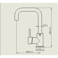 Mondella Resonance Square Sink Mixer - Suitable For Unequal / Mains Pressure