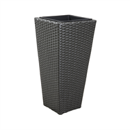 Lotus 28 x 60cm Square Poly Rattan Pot