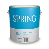 Spring 4L Flat White Interior Wall and Ceiling Acrylic