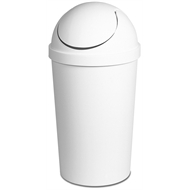 Sterilite Swing Top Round Rubbish Bin 40L White