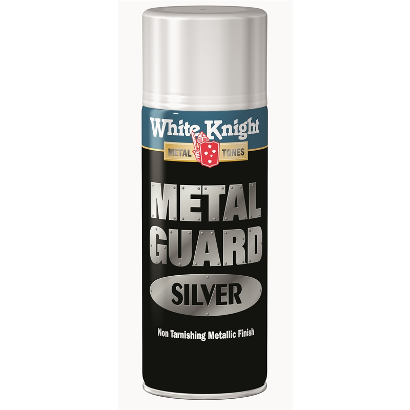 white knight metal guard 300g silver spray paint. Black Bedroom Furniture Sets. Home Design Ideas