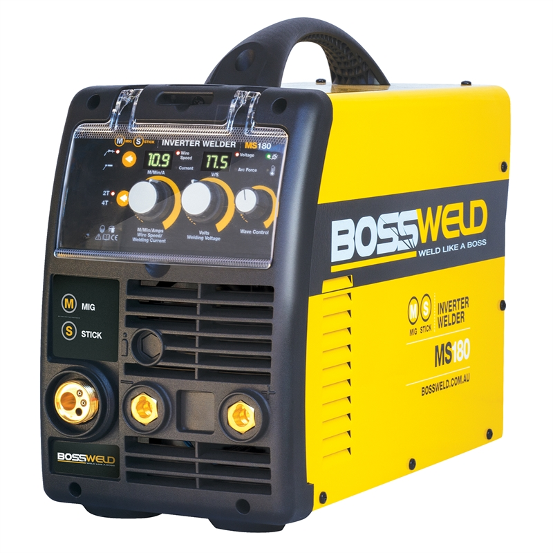 Bossweld 180 Amp MS180 MIG And Stick Arc Inverter Welder