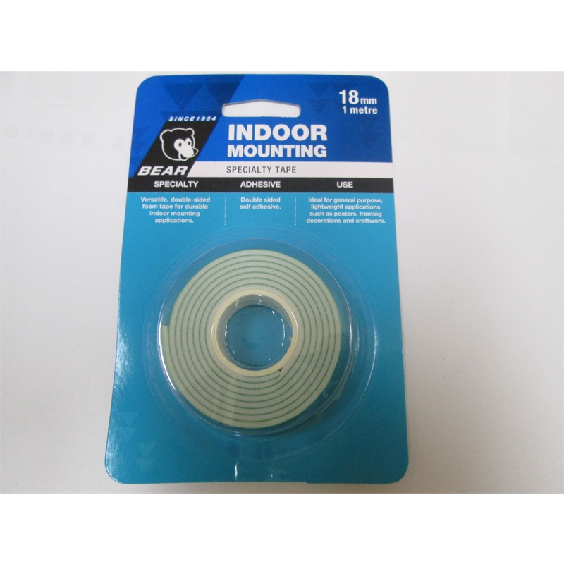 Bear Foam Mounting Tape 18mmx1m Indoor Bunnings Warehouse