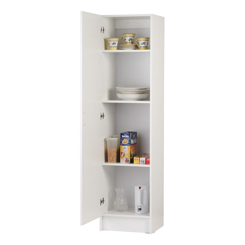 bedford one door pantry linen cupboard 450mm white
