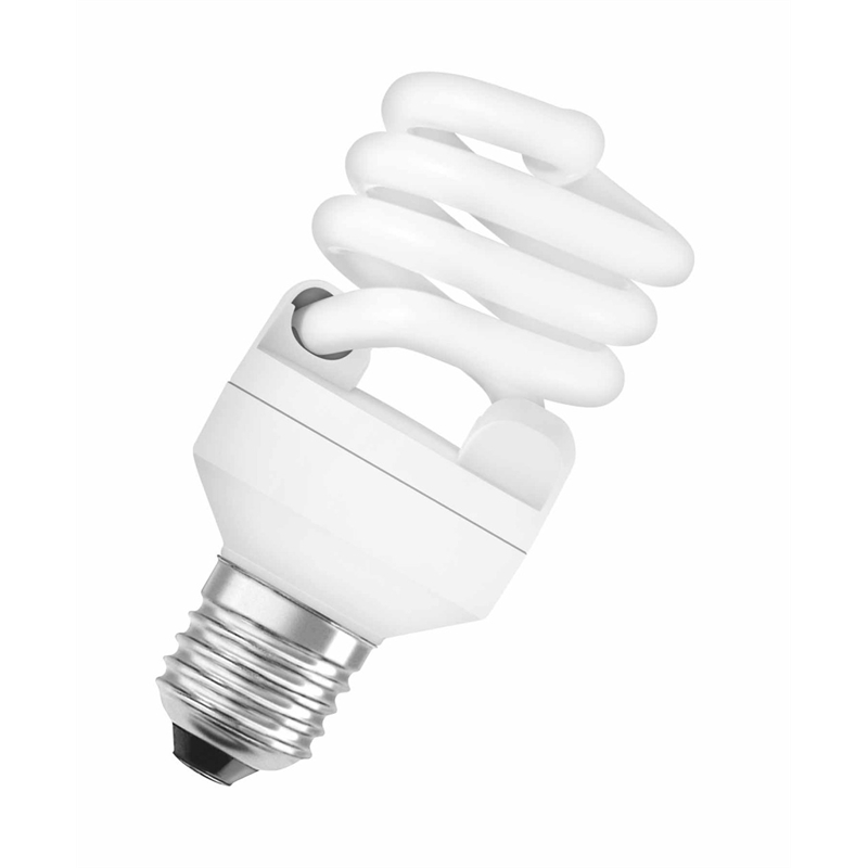Osram 20W Spiral CFL Bulb ES Mini, Warm White