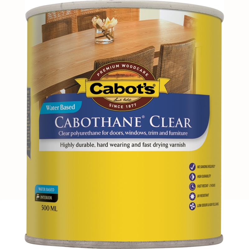 Cabot 39 S 500ml Gloss Cabothane Water Based Polyurethane