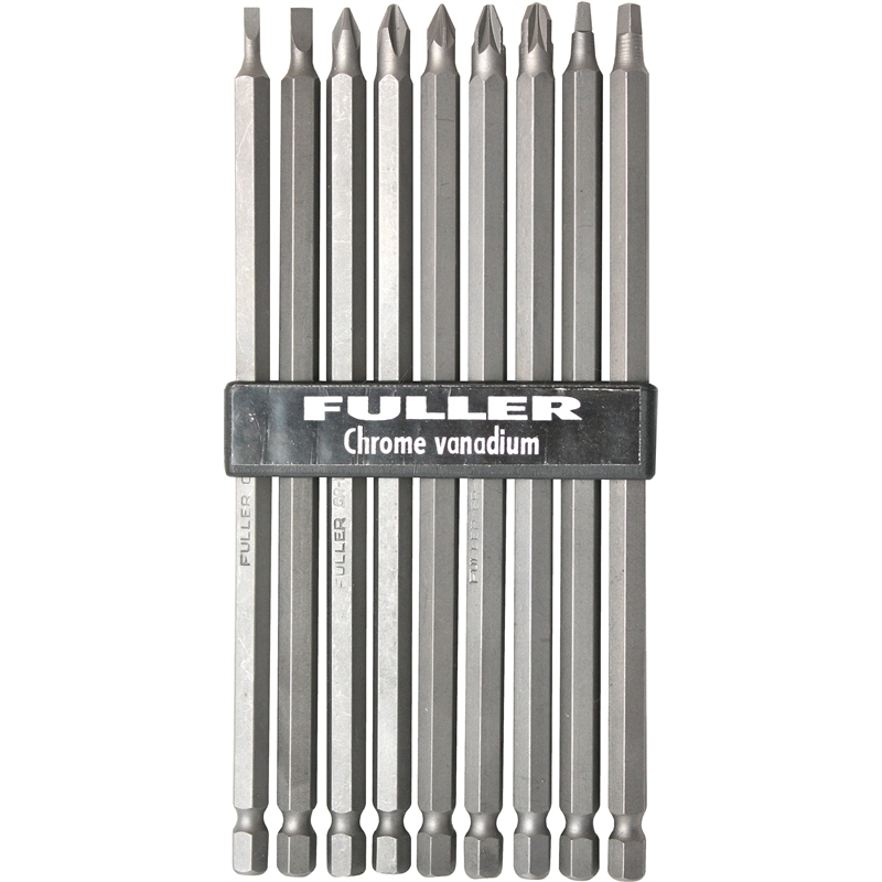 fuller long screwdriver bit set 9pc bunnings warehouse. Black Bedroom Furniture Sets. Home Design Ideas