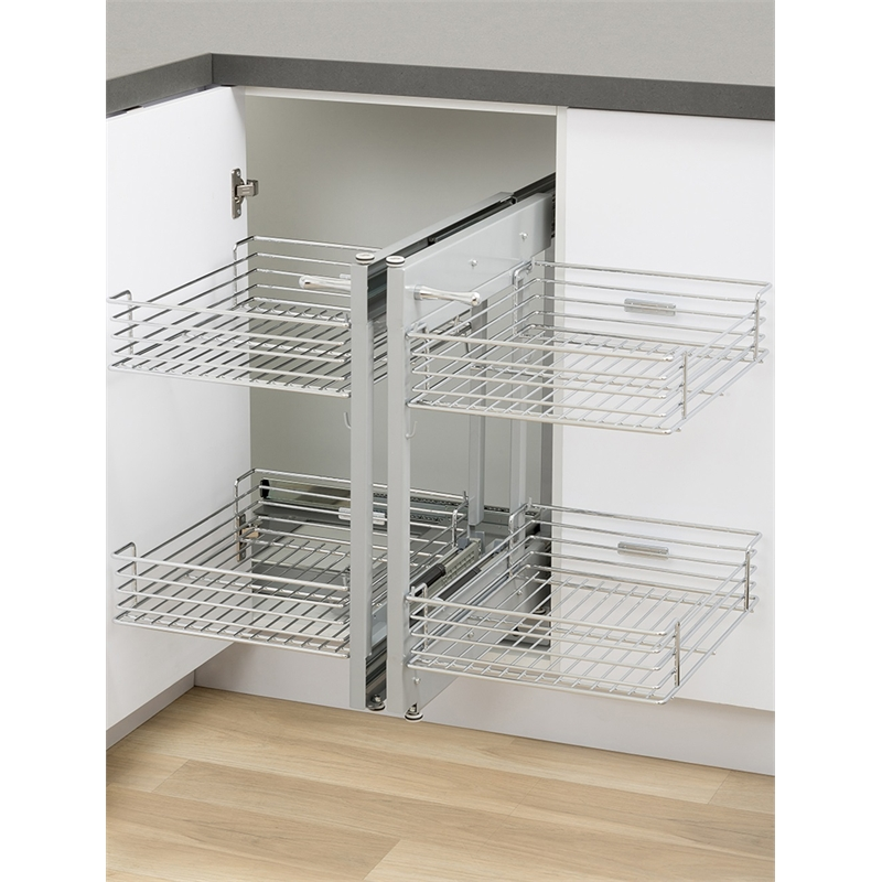 Kaboodle Blind Corner 2 Tier Soft Close Pull Out Baskets