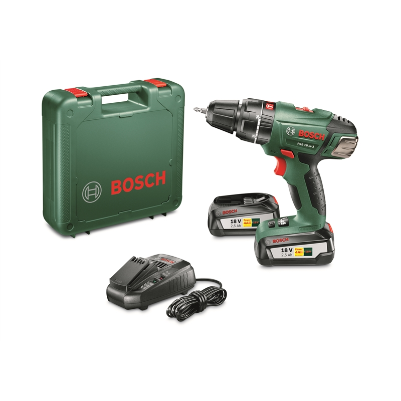 bosch 18v 2 5ah psb li 2 impact drill bunnings warehouse. Black Bedroom Furniture Sets. Home Design Ideas