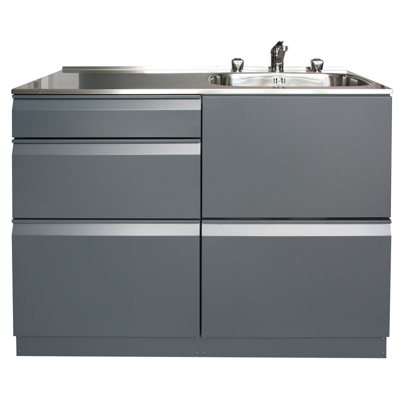 Bathroom Cabinets Bunnings dissco laundry centre 1120x560mm right hand tub grey | bunnings