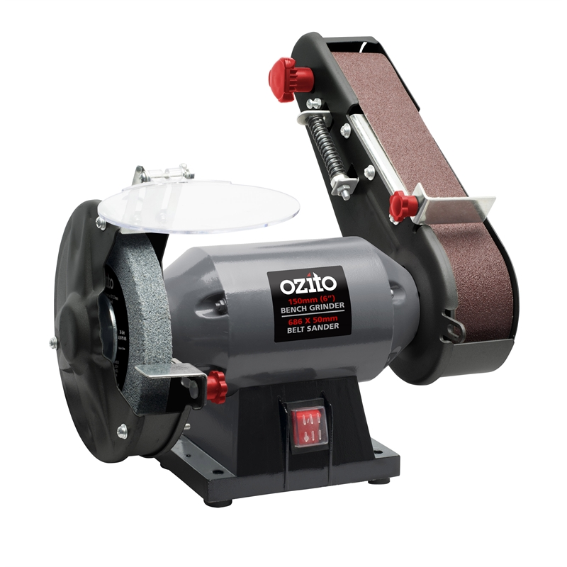 Ozito 240w bench grinder and belt sander bunnings warehouse Bench belt sander