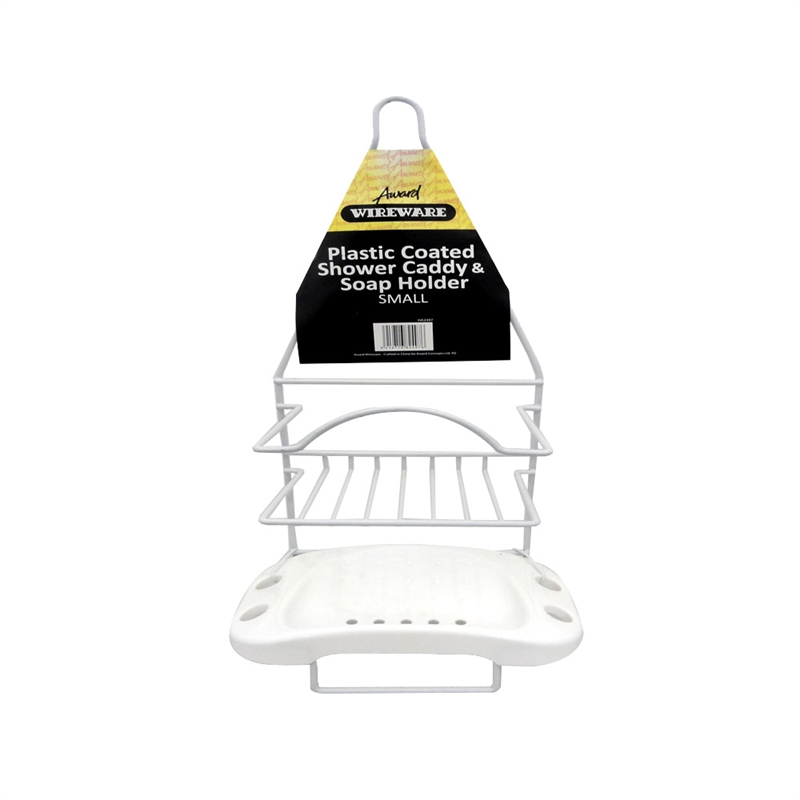 Award Wireware White Shower Caddy and Soap Holder | Bunnings Warehouse