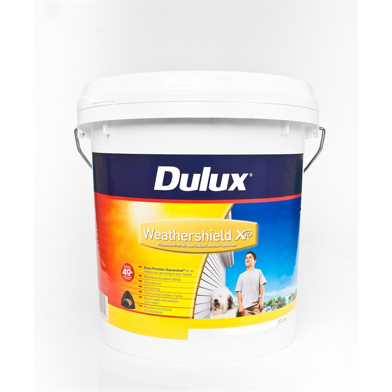 dulux weathershield x10 exterior acrylic 10l white. Black Bedroom Furniture Sets. Home Design Ideas