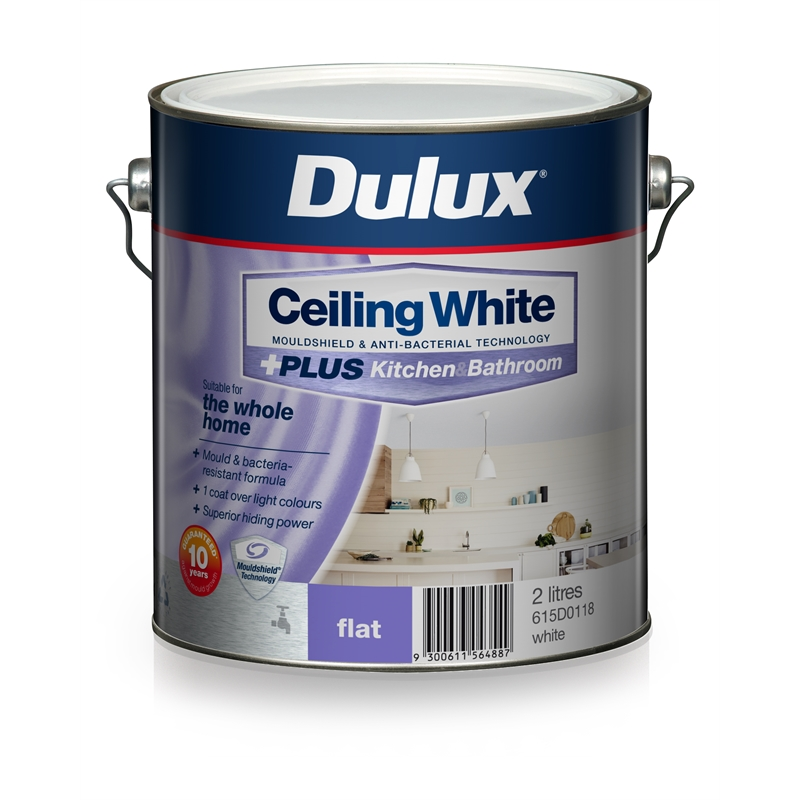 white kitchen and bathroom paint dulux 2l ceiling white plus kitchen and bathroom paint 24662