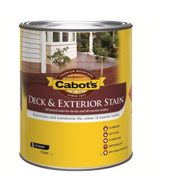 Cabot 39 S Deck Exterior Stain Oil Based 1l New Rustic Oak