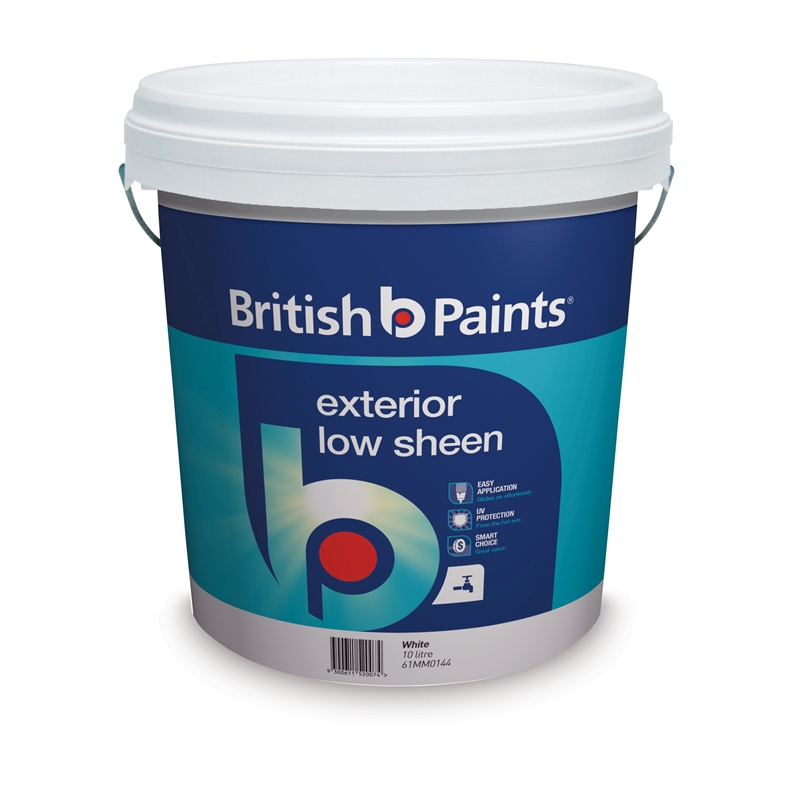 British Paints Low Sheen Exterior Paint 10l White Sku 01400629 Bunnings Warehouse