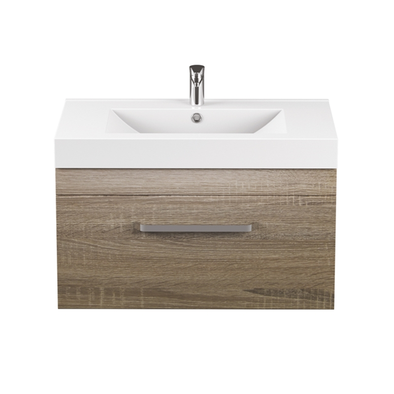 Bathroom Vanity Lights Bunnings stein 750mm light oak oakridge wall hung vanity | bunnings warehouse