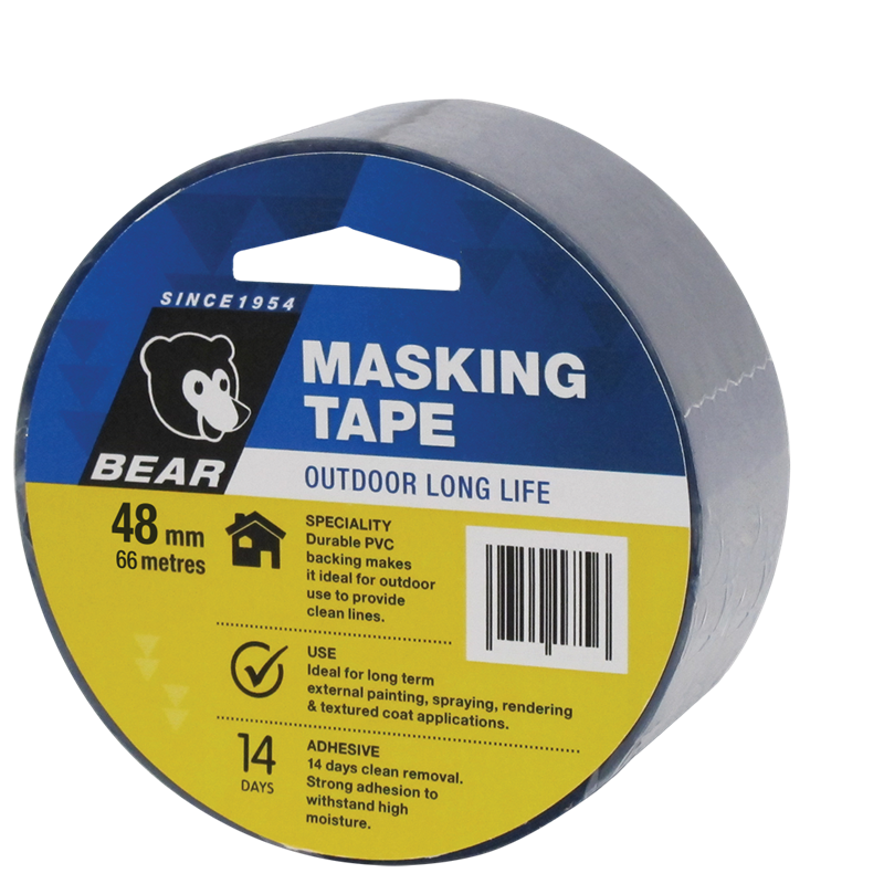 Bear outdoor long life masking tape 48mmx66m bunnings warehouse for Exterior masking tape