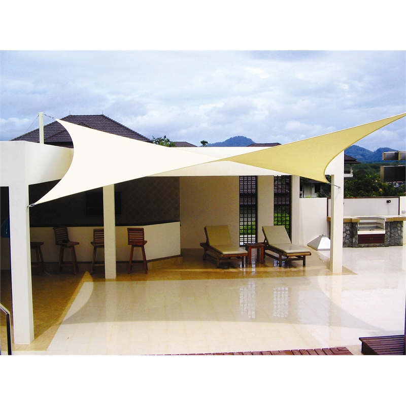 Coolaroo shade sail rectangle 5 x 3 desert sand bunnings for Shade sail cost