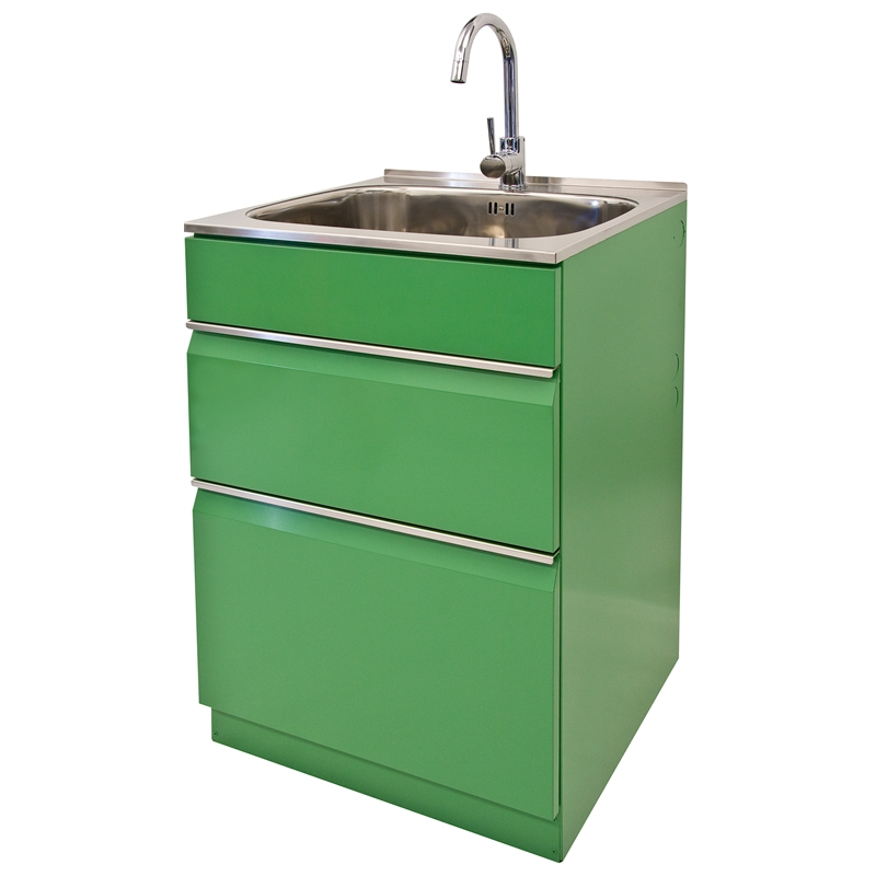 ... 565mm Green Elite Twin Drawer Elite Laundry Tub Bunnings Warehouse