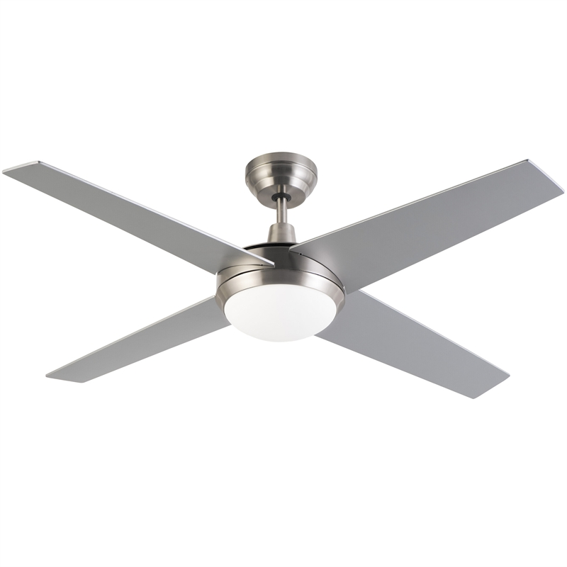 Arlec 130cm 4 Blade Grey Zephyr Ceiling Fan With Remote