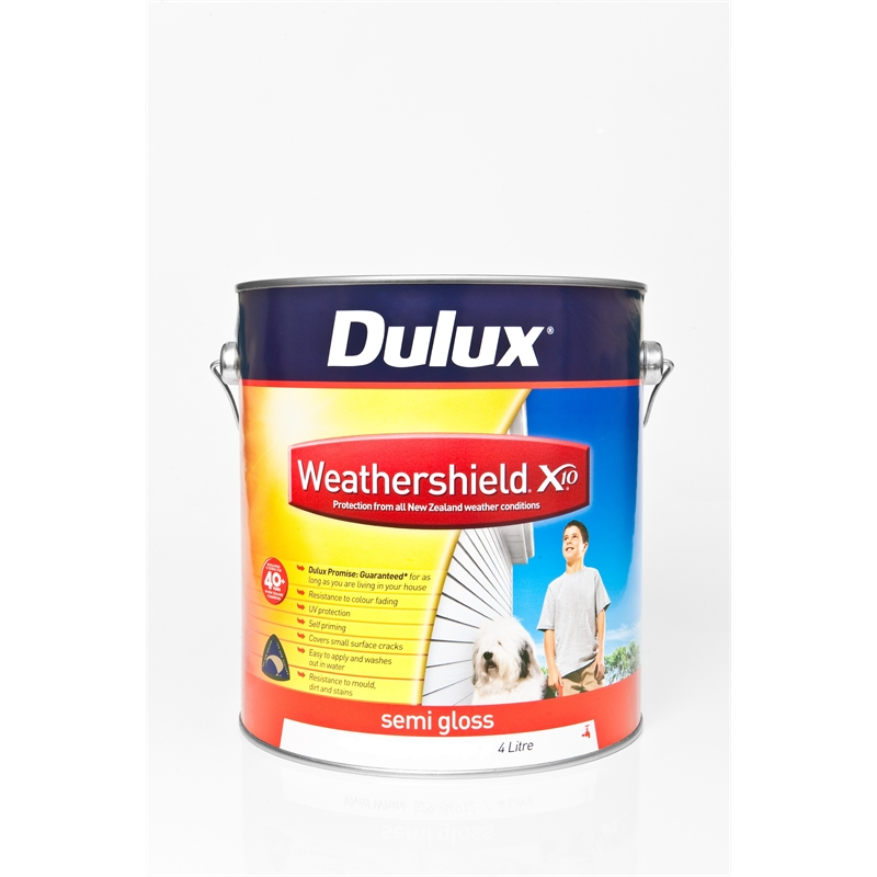 dulux weathershield x10 semi gloss 4l vivid white. Black Bedroom Furniture Sets. Home Design Ideas