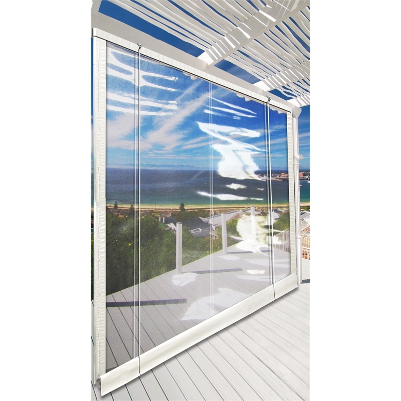 Sunline Clear Patio 2460x3000mm Timber Headrail Blind