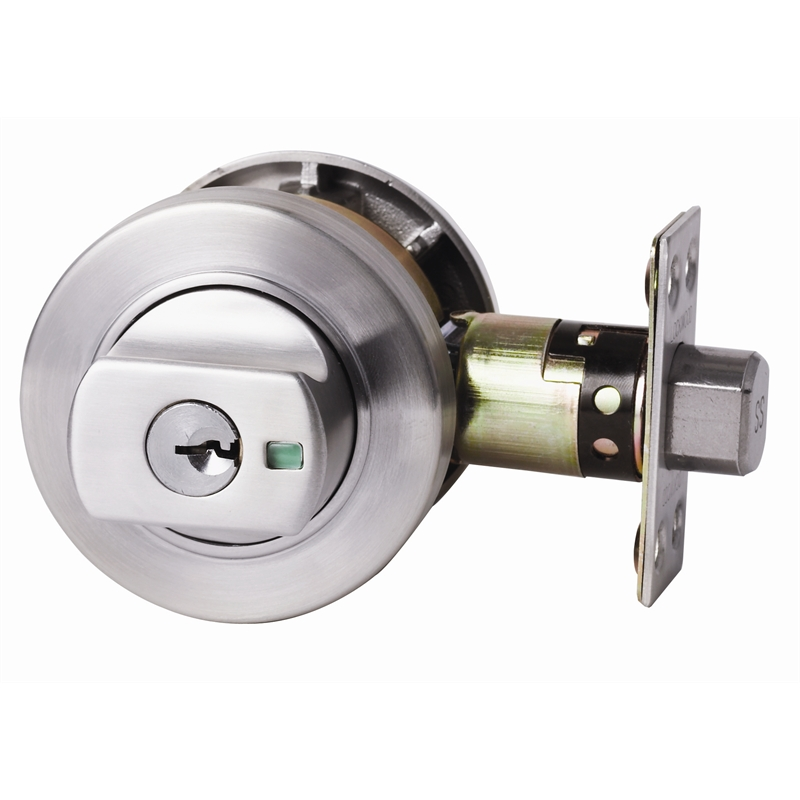Lockwood Paradigm 005 Deadbolt Satin Chrome Bunnings