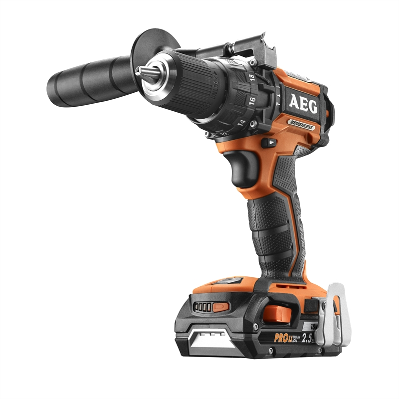 aeg 18v compact brushless hammer drill kit 2 x 2 5ah bunnings warehouse. Black Bedroom Furniture Sets. Home Design Ideas