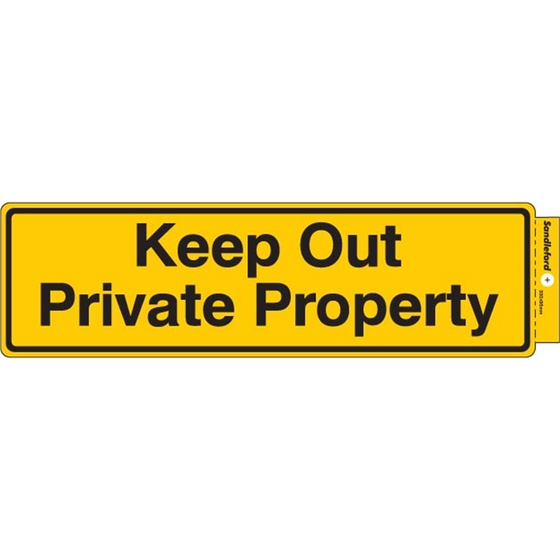 Sandleford Sign Keep Out Private Property Self Adhesive