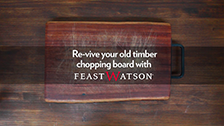 Revive Old Chopping Board with Feast Watson Kitchen Oil