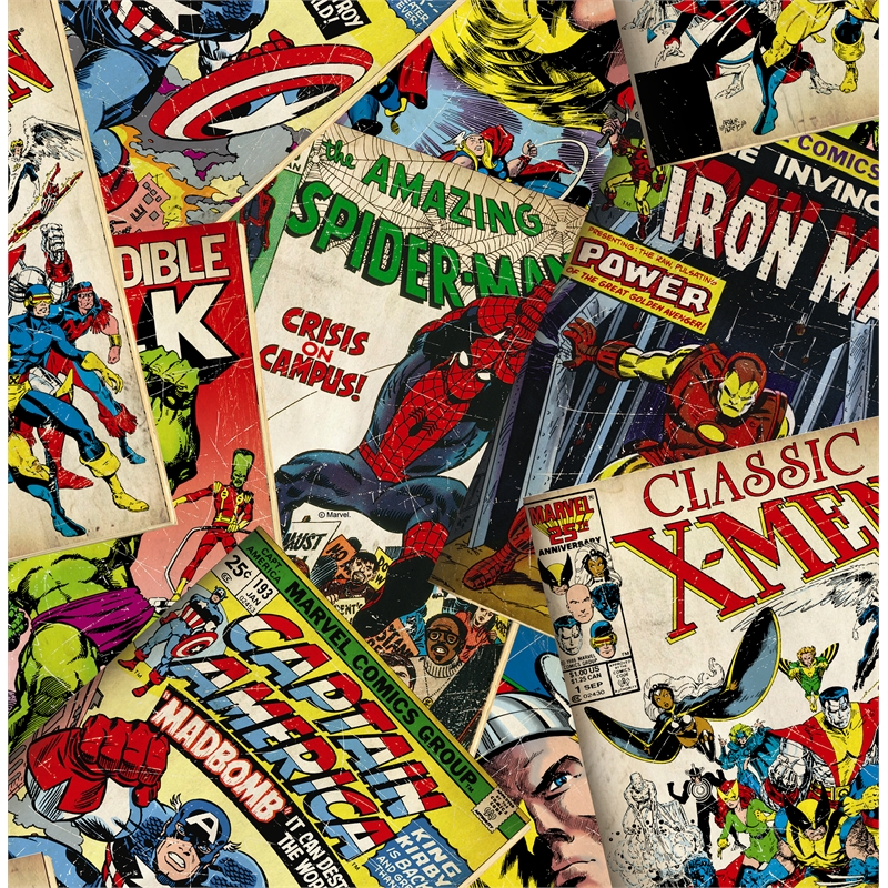 52cm X 10m Marvel Comics Cover Story Wallpaper